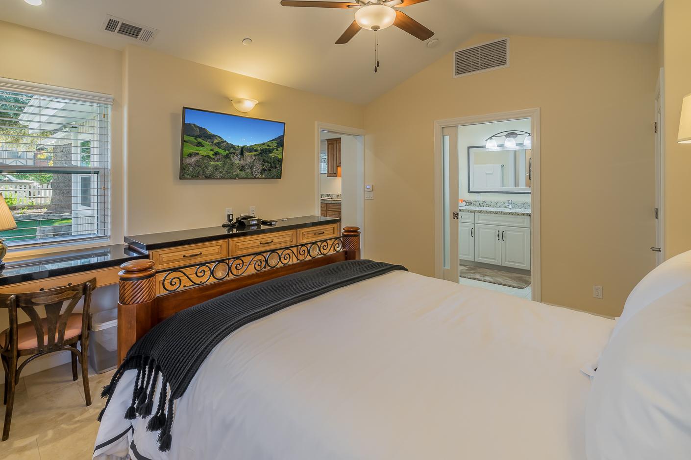 Bedroom with California Queen Bed